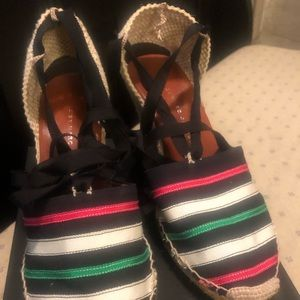 Marc by Marc Jacobs Striped Espadrille Wedge